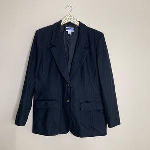 Pendleton Black Wool Blazer | Size 12